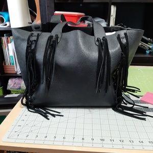 Handbags - Black tassel tote